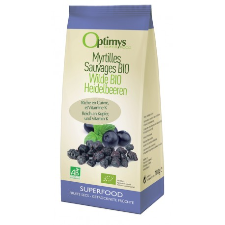 Myrtilles sauvages Bio - 180g - Optimys