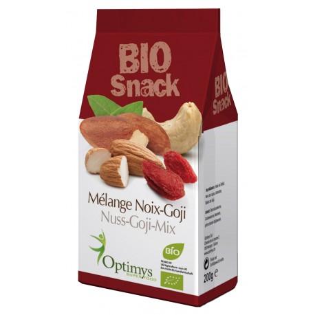 Mélange de noix-goji Bio - 200g - Optimys