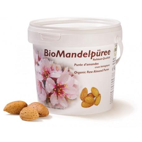 Bio Purée d'amande blanche crue - Bidon 1kg - Soyana