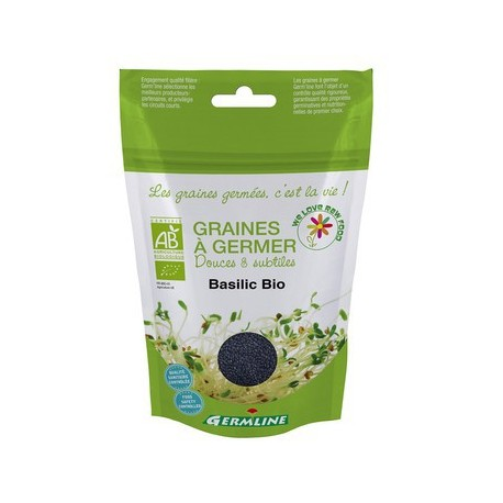 Basilic, Graines à germer, Bio - 100g - Germline