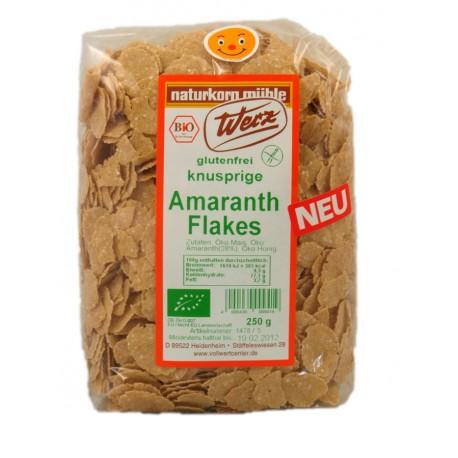 Amaranth Flakes glutenfrei mit Honig gesüsst, bio - 250g - Werz