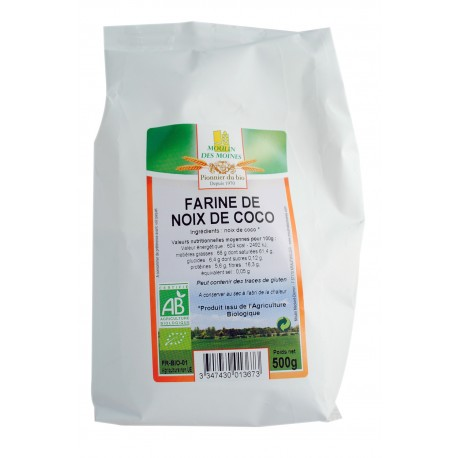Bio Kokosmehl - 500g - Moulin des Moines