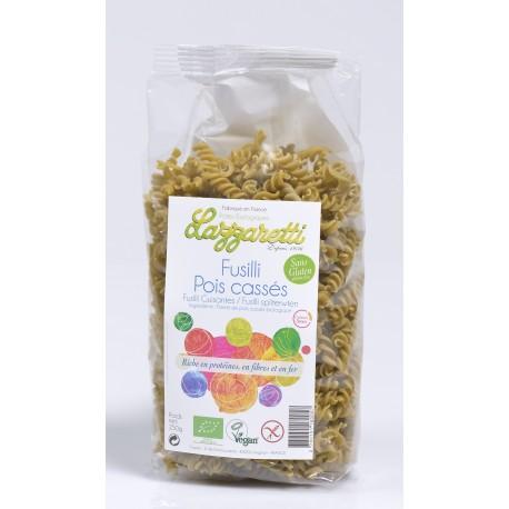 Bio Teigwaren Fusilli grüne Erbsen - 250g - Lazzaretti