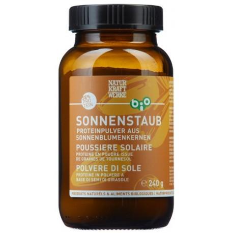 """Bio Proteinpulver aus Sonnenblumenkernen """"Sonnenstaub"""" - 240g - Naturkraftwerke"""