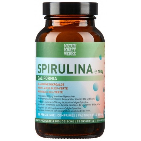 Spirulina California - 200 Tabletten à 500mg - NaturKraftWerke