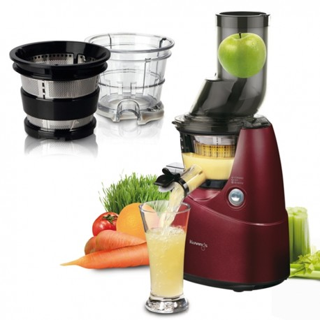 Kuvings Juicer B6000 rot + Smoothie & Ice Cream Set